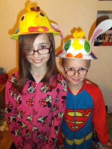 two easter bonnets
