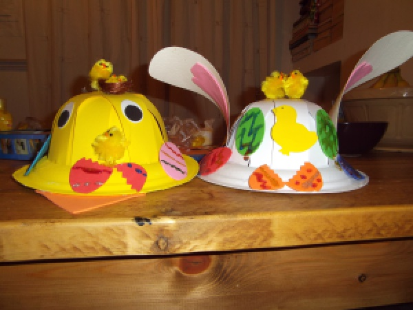 chick and bunny easter bonnets